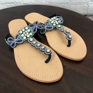 Anthropologie beaded sandal